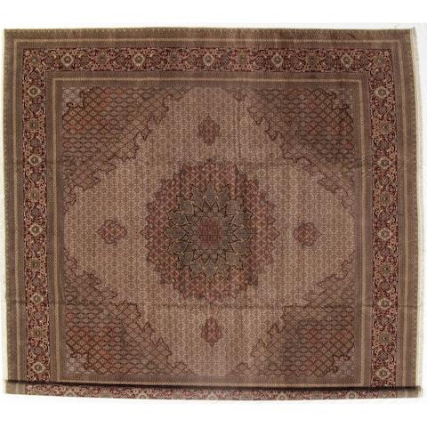 "Pasargad DC Ivory Persian Tabriz Silk & Lamb - 16'6"" x 16'6"""