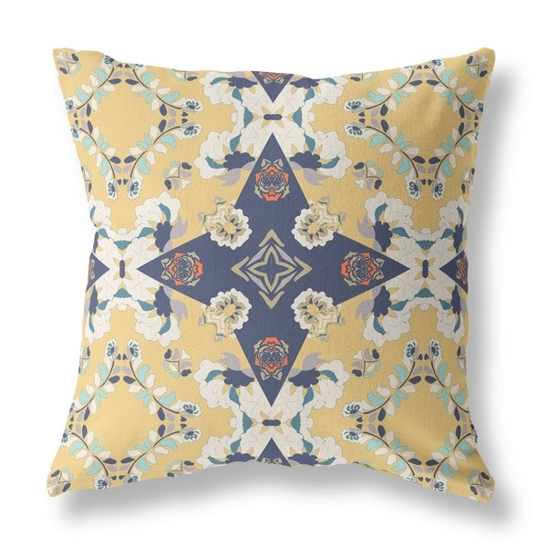 Diamonds in the Roses Broadcloth Pillow by Amrita Sen