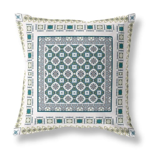 Floral World and Windows Broadcloth Pillow by Amrita Sen