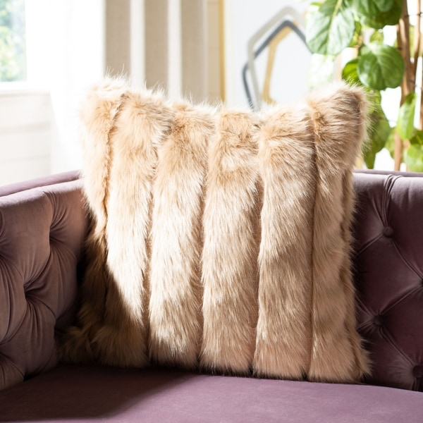"Safavieh 20"" Genevra Fur Pillow"