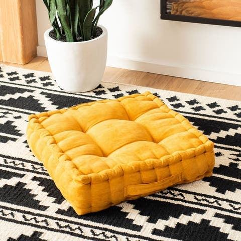 Safavieh Gardenia Square Tufted Velvet Floor Pillow