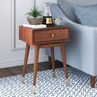 Adore Decor Sutton Mid-Century Modern Table, Walnut Brown