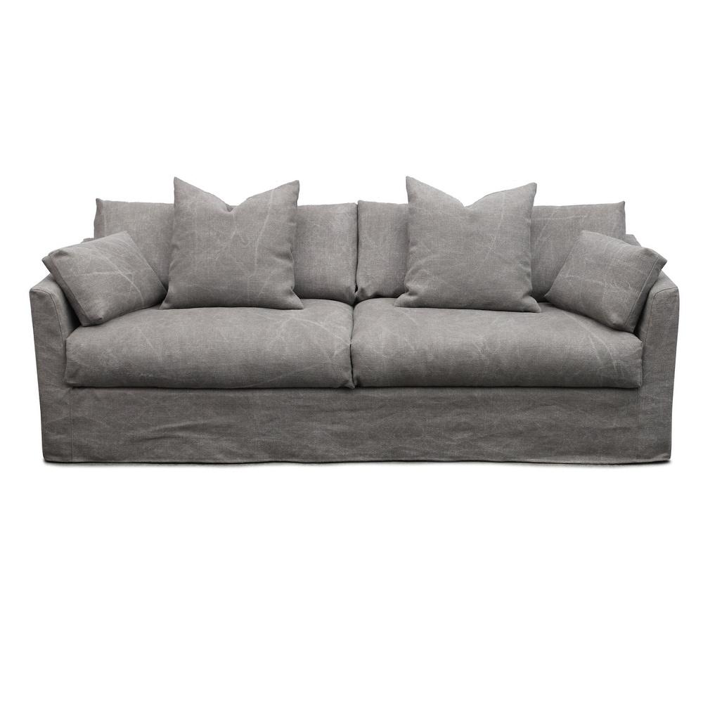Malabar Stone Washed Grey Linen Sofa