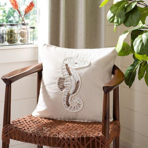 "Safavieh 18"" Sanden Seahorse Pillow"