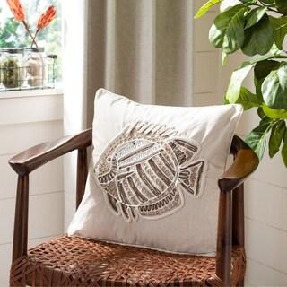 "Safavieh 18"" Felina Fish Pillow"
