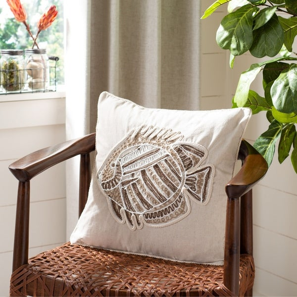 "Safavieh 18"" Felina Fish Pillow. Opens flyout."