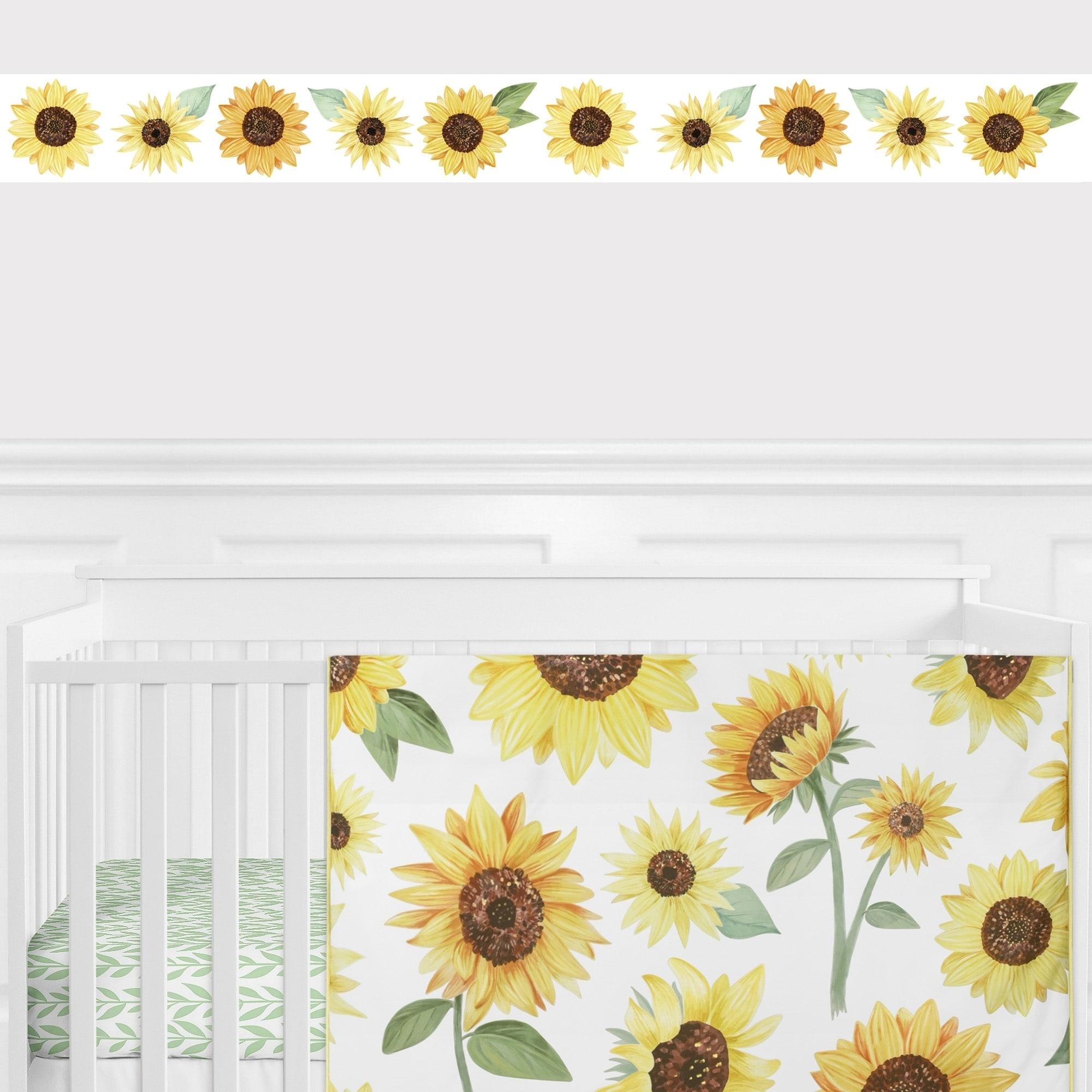 Shop Sweet Jojo Designs Floral Sunflower Collection Wallpaper Wall
