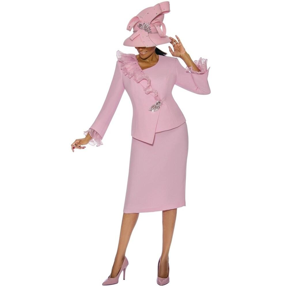 Susanna Womens 2 Piece Occasion Church Skirt Suit