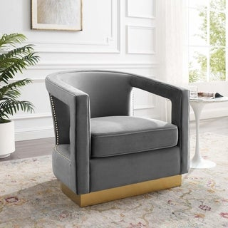 Link to Frolick Performance Velvet Armchair Similar Items in Accent Chairs