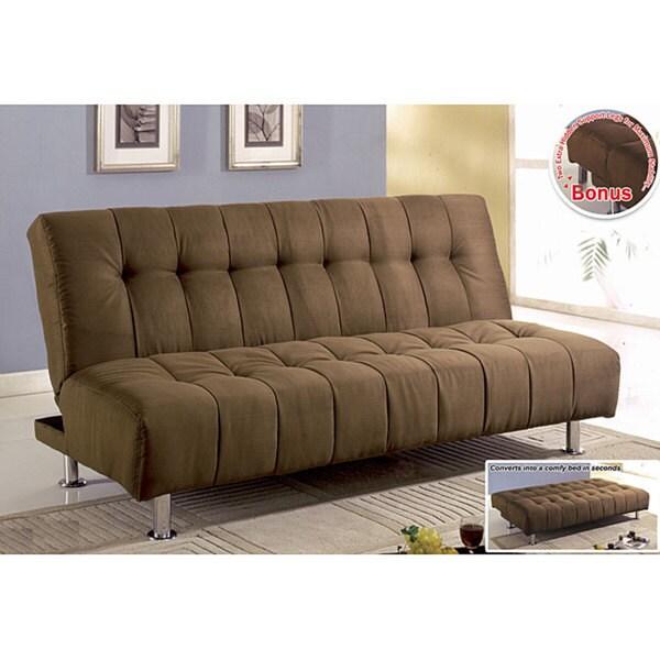 Furniture of America Microsuede Sofa Bed / Futon / Loveseat