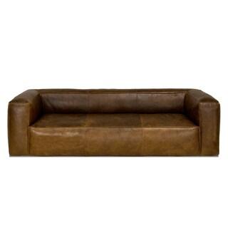 Cooper Top Grain Brown Leather Sofa