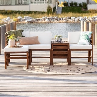 Link to 5-Piece Outdoor Modular Sectional by Havenside Home Similar Items in Outdoor Sofas, Chairs & Sectionals