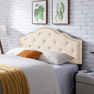 Link to Cordeaux Contemporary Upholstered Headboard by Christopher Knight Home Similar Items in Bedroom Furniture