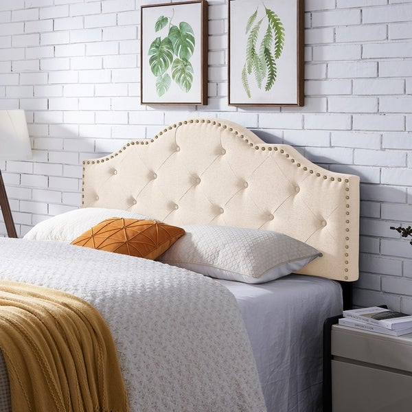 Cordeaux Contemporary Upholstered Headboard by Christopher Knight Home. Opens flyout.