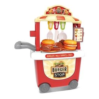 Burger Stop Burger Cart 35 Piece Pretend Play Playset