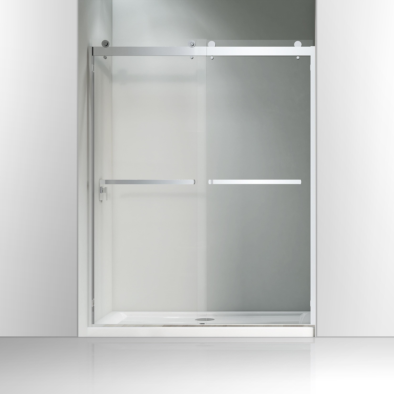 Shop Vanity Art 60 X 76 Frameless Bypass Sliding Glass Shower