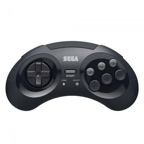 SEGA Genesis Bluetooth Wireless Controller Pad Gamepad For PC Mac Android Switch - Black
