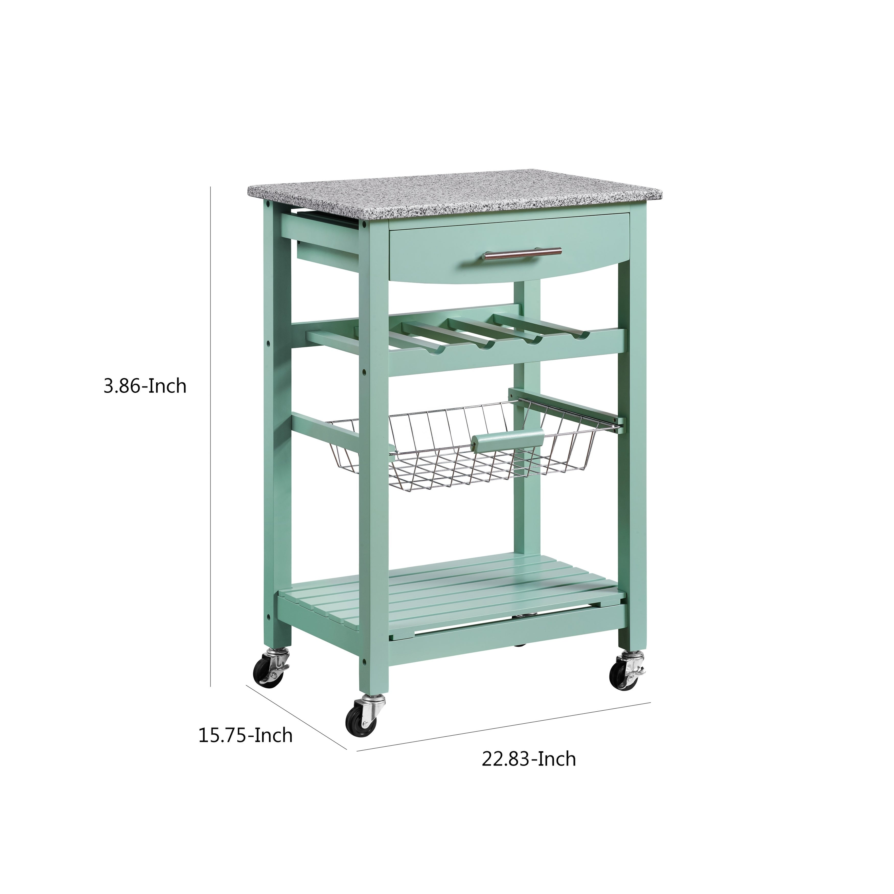 Shop Contemporary Style Kitchen Island With Granite Top And