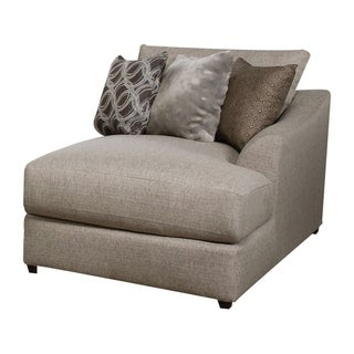 Fabric Upholstered Right Arm Facing Chaise with Cushioned Seat, Beige