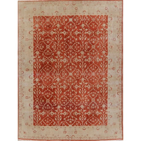 """Egyptian Vintage Oushak Oriental Hand Knotted Wool Area Rug - 10'2"""" x 7'9"""""""