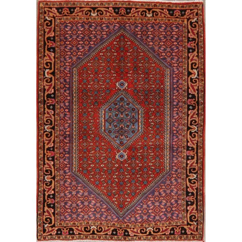 "Vintage Bidjar Oriental Hand Knotted Persian Wool Area Rug - 5'3"" x 3'8"""
