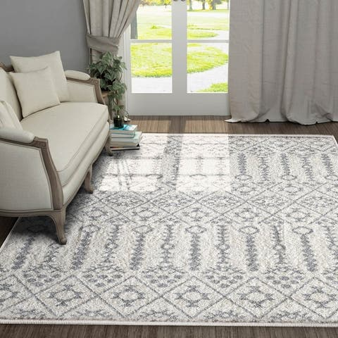 5'X7' Vintage Shabby Chic Area Rug for Living Room,Kitchen,Bedroom - 5' x 7'