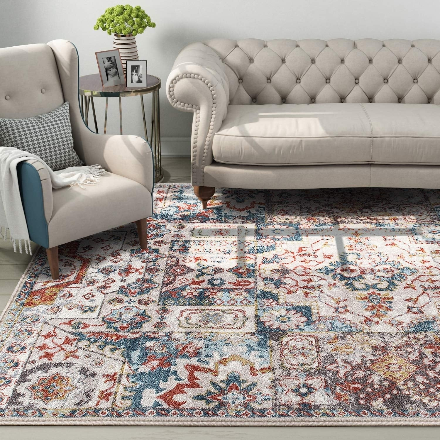 Shop 5 X7 Vintage Shabby Chic Area Rug For Living Room Kitchen Bedroom 5 X 7 5 X 7 Overstock 30405255