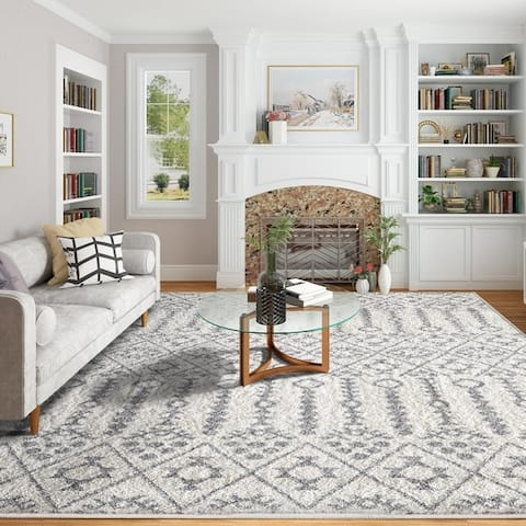 Indoor Stain-resistant Modern Living Room Bedroom Traditional Area Rugs - 8' x 10'