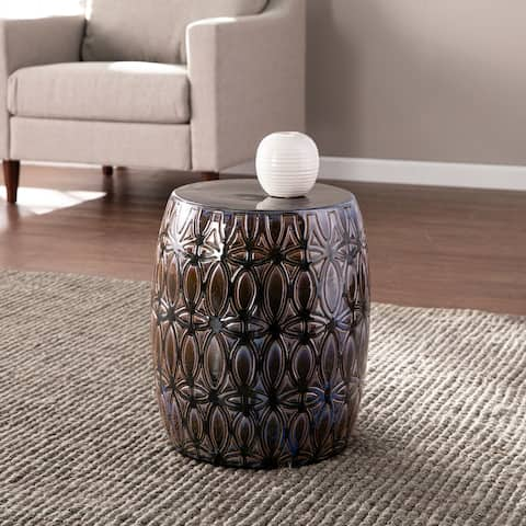 Sandinah Eclectic Multicolored Ceramic Accent Table by Havenside Home