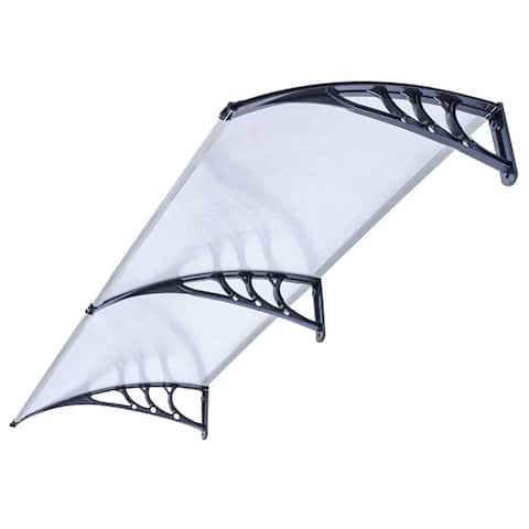 ALEKO Polycarbonate Window Awning Front Door Canopy 40 x 80 Inches