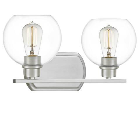 Quoizel Pruitt Clear Glass 2-light Bath Light