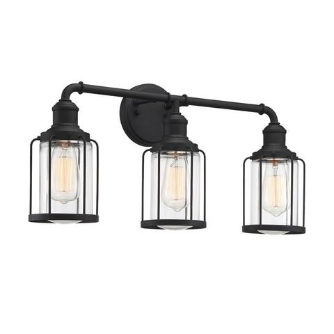 Quoizel Ludlow Earth Black 3-light Bath Light