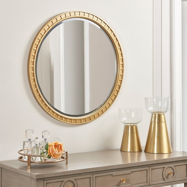 Copper Grove Gwembe Round Wall Mirror with Goldtone Finish