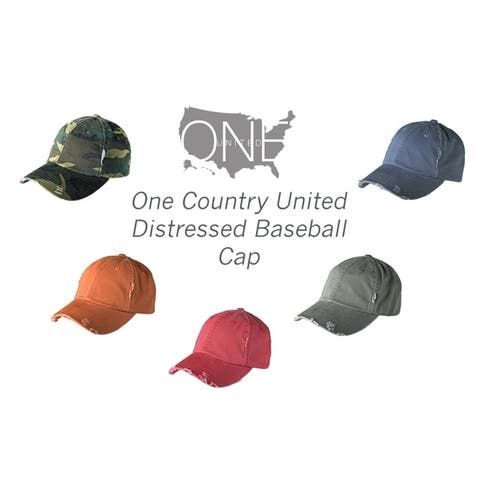 One Country United Distressed Baseball Cap