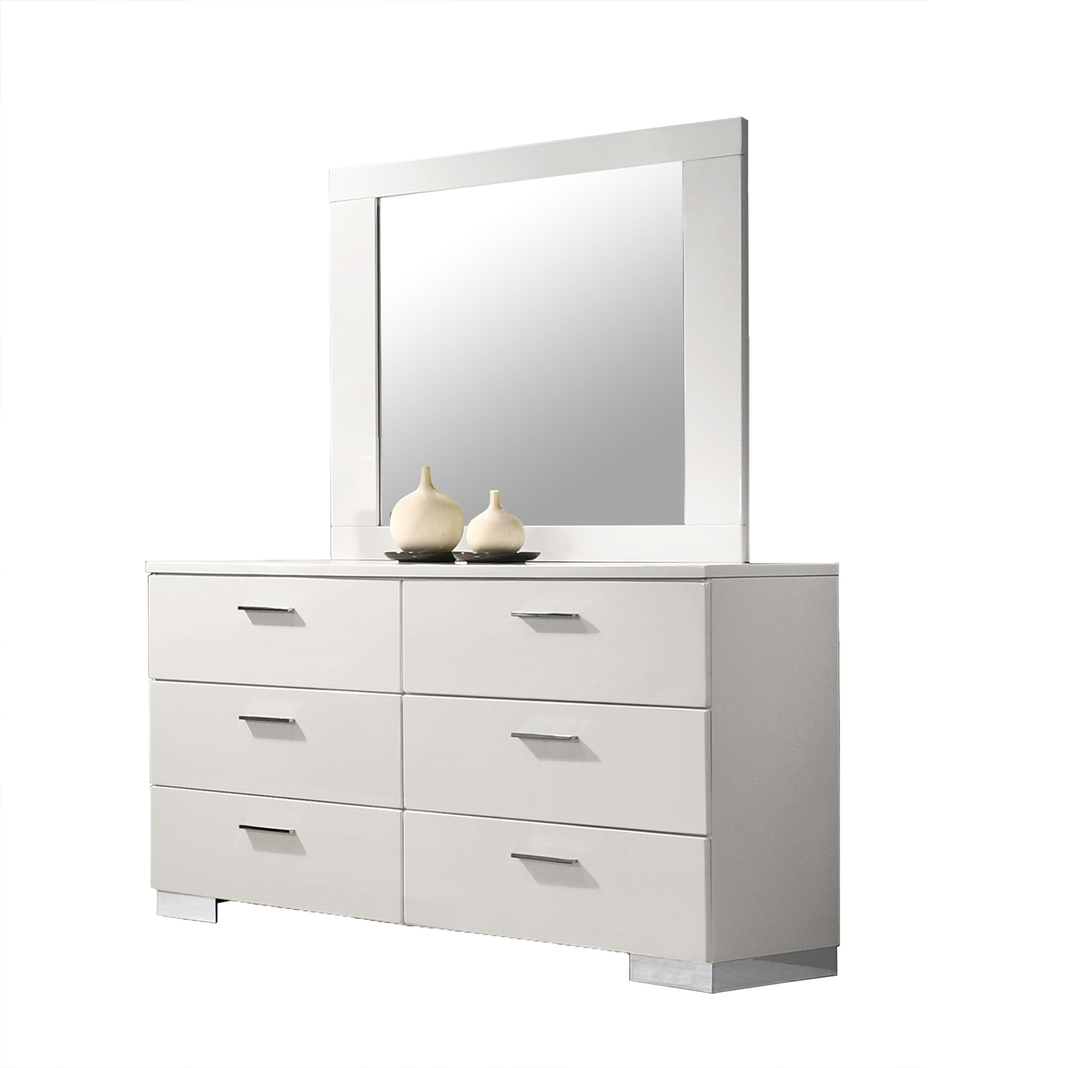 Best Quality Furniture Rose Dresser With Mirror Or Dresser Only Overstock 30406516