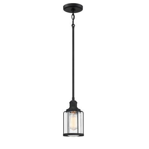 Quoizel Ludlow Earth Black 1-light Mini Pendant