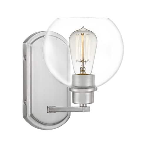 Quoizel Pruitt Clear Glass 1-light Wall Sconce