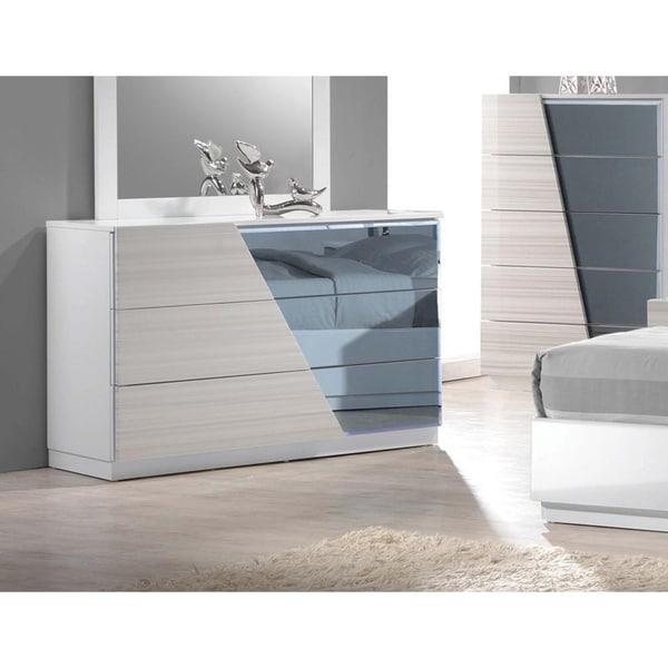 Best Master Furniture Zebra Grey 3 Drawer Dresser