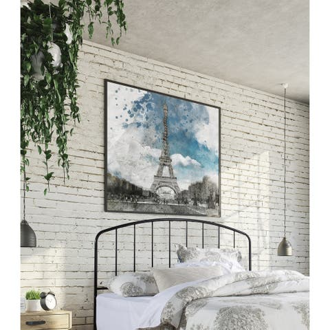 Carbon Loft Cronkite Black Metal Headboard with Arched Spindle Design
