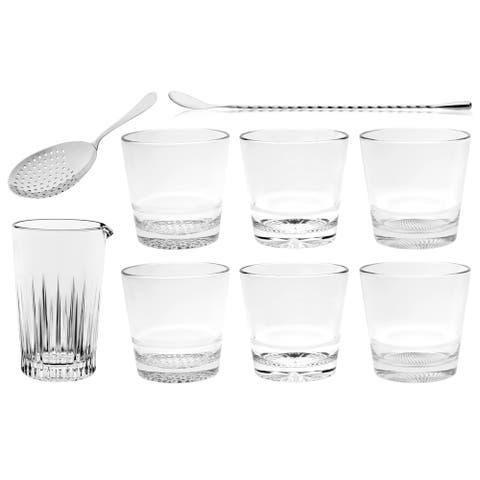 Majestic Gifts Inc. 9 Pc Mixology S/6-DOF,Mixing Cup,Strainer&Stirrer