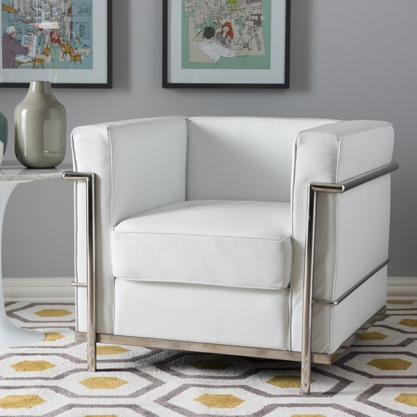 Mason White Leather Sofa: Mason White Leather Chair