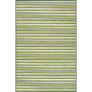 Handmade Lime Green Rayon from Bamboo Runner (2'x7')