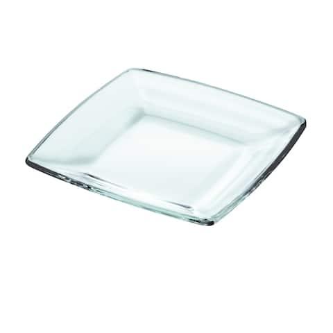 "Majestic Gifts Inc. European Glass Square Dessert Plates-5.9""D-Set/6"