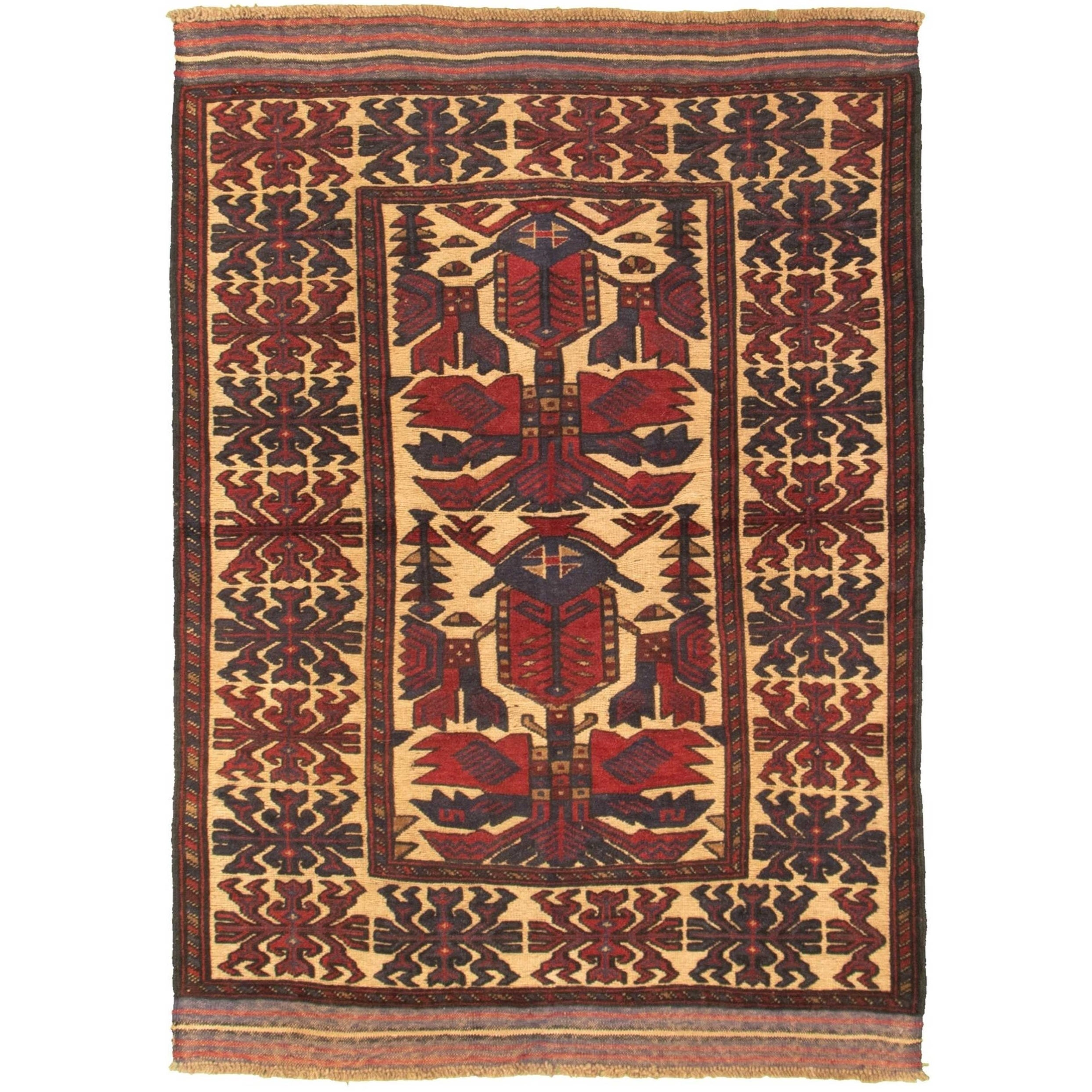 Hand Knotted Tajik Caucasian Red Tan Wool Rug On Sale Overstock 30409087