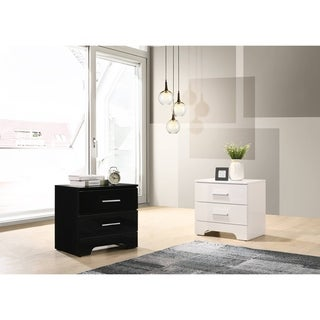 Link to Best Quality Furniture High Gloss Lacquer Nightstands Only Similar Items in Bedroom Furniture