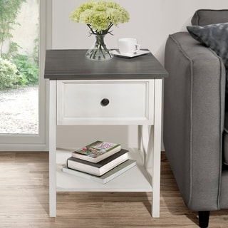 "The Gray Barn 19"" 1 Drawer Side Table"