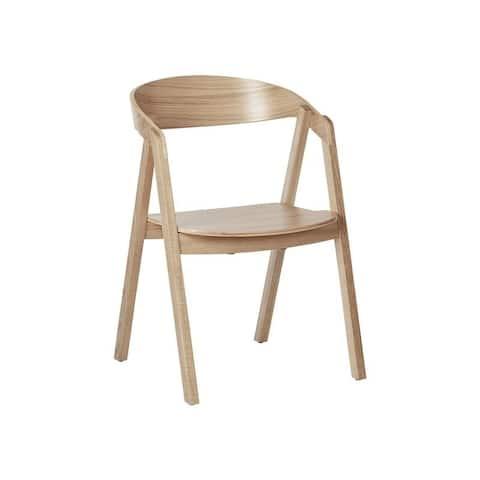 Georgia Oak Stackable Arm Chair (Set of 2)