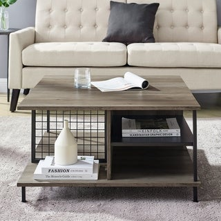 "Carbon Loft 30"" Multi-Shelf Coffee table"