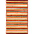 Rust Rayon from Bamboo Area Rug (5' x 7')