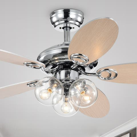 Porch & Den Chrome 42-inch 5-blade Ceiling Fan